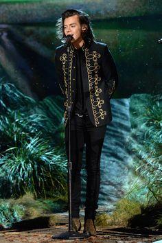 Harry Styles in head-to-toe Saint Laurent—November 2014