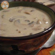 سوپ قارچ ساده