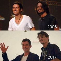 Orlando Bloom and Johnny Depp transformation