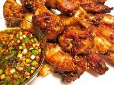 Spicy Koreaanse kippenvleugels met knoflook-soja dip