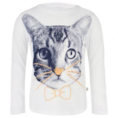 cfc286c4d74 White Tee with Large Cat Face. White Tees, Cats, Stella Mccartney Kids ...