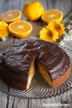 Stor Jaffa-kake | Det søte liv Muffin, Breakfast, Desserts, Food, Morning Coffee, Tailgate Desserts, Deserts, Essen, Muffins
