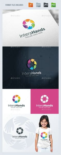 Interaction - Hands Logo - EPS Template • Only available here ➝ http://graphicriver.net/item/interaction-hands-logo-template/16826495?ref=pxcr