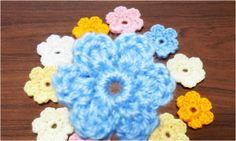 かぎ針編みの花のモチーフ 16 How to Crochet Flower Motif