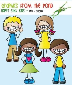 Happy Stick Kids ClipartThis is a fun set of 8 individual files to use in your classroom and teacher resource files that you sell and distribute.They CANNOT be shared or distributed as image/clipart files for any reason. You cannot make your own clipart/image files with out clipart files for any reason.You must create something with them where the images are embedded.
