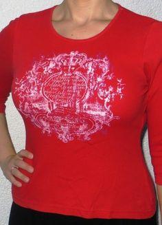 Kaufe meinen Artikel bei #Kleiderkreisel http://www.kleiderkreisel.de/damenmode/three-fourths-armlig/76085074-rotes-shirt-von-madonna-34-arm