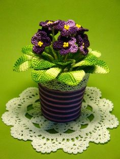"""Amigurumi <a href=""""/tag/crochet"""">#crochet</a> potted plant pattern... I think this would look great as a basket with lid!!!"""