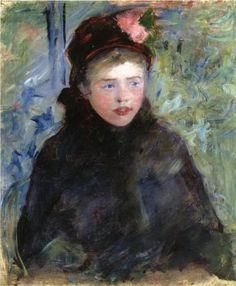 1881 Susan in a Toque Trimmed with Two Roses - Mary Cassatt huile sur toile Dimensions: 64.77 x 53.98 cm Gallery: Private Collection