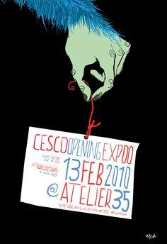 CESCO//OPENING EXPO//@ ATELIER 35//ROMA by FRANCESCO TORTORELLA, via Behance