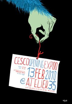 CESCO//OPENING EXPO//@ ATELIER 35//ROMA by FRANCESCO TORTORELLA, via Behance