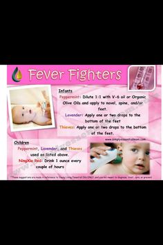 Essential oils for Fevers