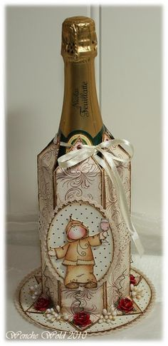 scrapbooking idea for packaging bottle ♥