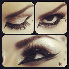 Liquid liner technique by Kat Von D