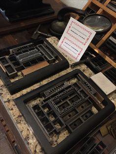 Chase type letterpress