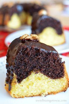 Babka kakaowo-cytrynowa Polish Desserts, No Bake Desserts, Cookies And Cream Cake, Marble Cake, Coconut Cookies, Pumpkin Cheesecake, Piece Of Cakes, Biscotti, Cake Recipes