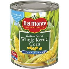 I'm learning all about Del Monte : Whole Kernel Golden Sweet No Salt Added Corn at @Influenster!