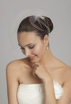 Bridal Accessories - Plain Birdcage Veil from Camille La Vie and Group USA