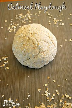 Oatmeal Playdough Recipe - Just 3 Ingredients to make this edible dough. So simple to make with kids!