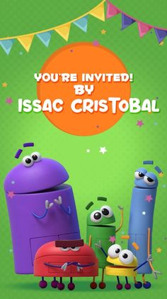 Your guests will like this Electronic Video Invitation Card STORYBOTS we personalize it for you with your data, surprise them Electronic Cards, Electronic Invitations, Anniversary Invitations, Birthday Party Invitations, Photo Invitations, Invitation Cards, Robot Tv, Netflix Kids, Youre Invited