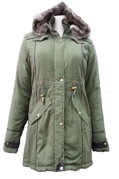 Khaki Cotton Fur Trimmed Hood Long Sleeve Parka With Fully Lined Product Code: 628 Pack of 8 Pieces£24.00 Per Piece VAT: 0%  FC