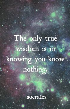 The only true wisdom is in knowing you know nothing | Anonymous ART of Revolution... repinned by http://My-Daily-Quote.com