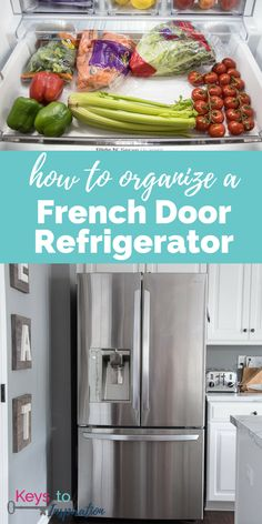 How to Organize a French Door Refrigerator - Refrigerator - Trending Refrigerator for sales. - How to organize a french door refrigerator. Make the most out of all the food storage space and create a system that works for your family. Lg French Door Refrigerator, Clean Refrigerator, Freezer Organization, Refrigerator Organization, Organization Ideas, Kitchen Organization, Organized Kitchen, Freezer Storage, Kitchen Storage