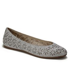 Look what I found on #zulily! Comfy Soles Silver Glitter Luster Flat by Comfy Soles #zulilyfinds