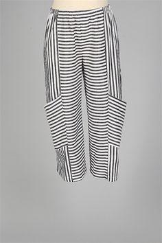Niche - Flyby Pant - White & Black Stripe