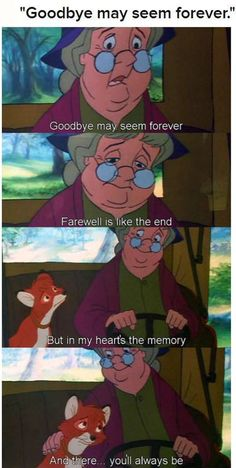 fox and the hound... saddest scene ever. Makes me cry my eyes out every time T_T