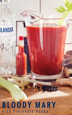 Enjoy great food, great company and a great drink at brunch. This refreshing and easy-to-make recipe for a Finlandia Bloody Mary will keep you looking forward to get-togethers with your friends and family. Fill up a pitcher, add in some celery and enjoy its flavorful taste.