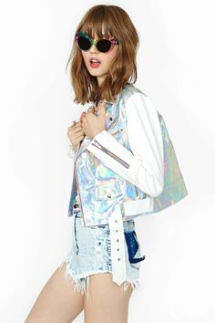 UNIF Gamma Ray Moto Jacket | Shop Jackets at Nasty Gal  literally the dream buy me this and i'll (probably) marry you