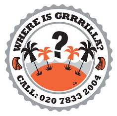Sticker campaign for the new up-beat Fast-Food #Restaurant chain Grrrilla by Spritz Creative.   #marketing #branding #print #digital #orange #food