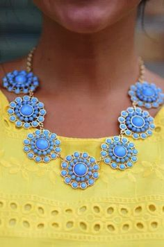 gorgeous yellow and blue #StyleScavenger