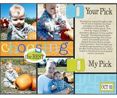 Scrapbook a Blocked Design with Photos and Paper