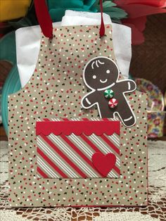 Cookie Cutter Christmas Stampin Up! I found the apron bag die on eBay!