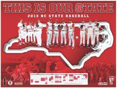 2013 NC State baseball poster