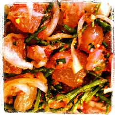 Sea asparagus hijiki poke - @honorooroo- #webstagram