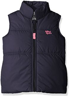 Osh Kosh Girls' Fleece Lined Puffer Vest -- Additional details @