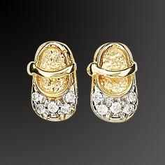 Σκουλαρίκια χρυσά Κ-18 με ζιργκόν Τιμή: €134