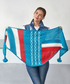 Yarnspirations is the spot to find countless free easy crochet patterns, including the Red Heart Abstractly Chic Shawl Crochet-Along. Browse our large free collection of patterns & get crafting today! Crochet Shawls And Wraps, Crochet Scarves, Crochet Yarn, Crochet Clothes, Free Crochet, Knit Shawls, Crochet Sweaters, Crochet Gifts, Easy Crochet Patterns