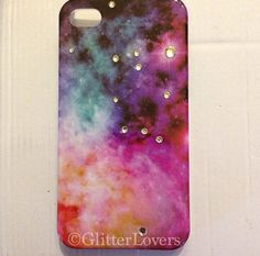 This is a case of the galaxy with crystals placed where the stars are. This is for iPhone Crystal Place, Cell Phone Cases, Iphone 4, Cell Phone Accessories, Technology, Crafty, Crystals, Stars, Handmade