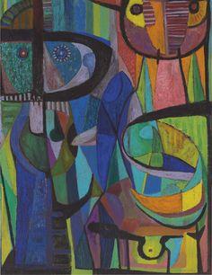 Los alucinados,1959,oil on canvas. Pedro Coronel
