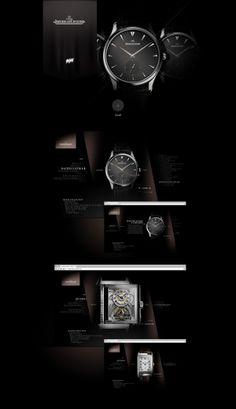 Jaeger - Lecoultre by Antoine Pelgrand Kostadinoff, via #Behance #Webdesign