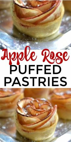 Apple Tart Puff Pastry, Apple Recipes With Puff Pastry, Easy Puff Pastry Desserts, Easy Desserts, Delicious Desserts, Elegant Desserts, Healthy Apple Desserts, Apple Dessert Recipes, Baking Recipes
