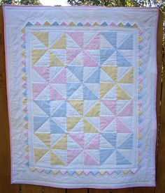 Pastel Pinwheel baby quilt | Explore bca_bethmo's photos on … | Flickr - Photo Sharing!