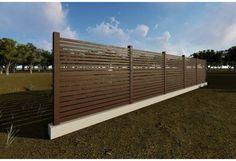 Constructie gard din beton si lemn GA10 Fence, Garage Doors, Relax, Exterior, Outdoor Decor, House, Home Decor, Ideas, Decoration Home