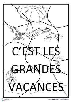 Un puzzle 15 pièces pour les vacances Puzzles, Cycle 1, Myla, Math Equations, French Tips, Major Holidays, June, Preschool, Children