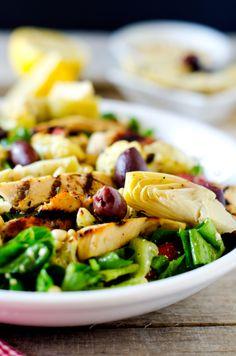 Marinated Mediterranean Grilled Chicken Salad - Wendy Polisi