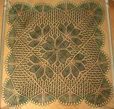 Knitted Lace. Reckons it comes from the First Book of Modern Lace Knitting but I can't find it! Very pretty though.