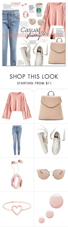 """""""Casual friday"""" by mery90 ❤ liked on Polyvore featuring MANGO, Tiffany & Co., Christian Dior, Love Is, Topshop, casualoutfit, fallstyle, zaful and fall2017"""